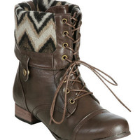 Foldover Combat Boot | Shop Shoes at Wet Seal