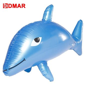 DMAR 90cm Inflatable dolphin Gaint Pool Float Toys Beach Mattress Swimming Ring Lifebuoy Sea Water Party Toys Flamingo Unicorn