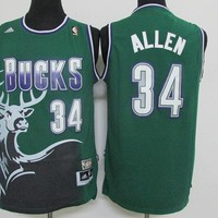 Best Deal Online Mitchell & Ness Hardwood Classics NBA Basketball Jerseys Milwaukee Bucks #34 Ray Allen Green Classics
