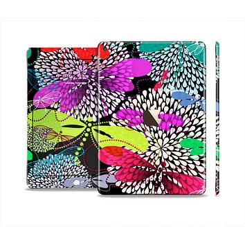 The Vibrant Neon Vector Butterflies Skin Set for the Apple iPad Air 2