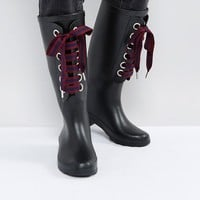 ASOS GUMBALL Interchangeable Laces Wellies at asos.com