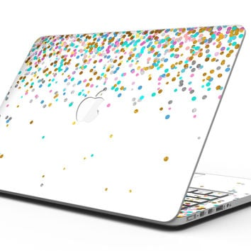 Multicolor Birthday Dots Over White - MacBook Pro with Retina Display Full-Coverage Skin Kit