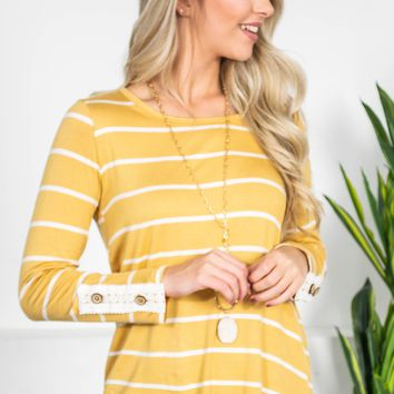 Honey Lace Striped Top