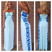 Marged Tie Dye Maxi Dress