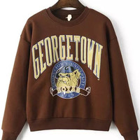 "Coffee ""GEORGETOWN UNIVERSITY"" Sweatshirt"