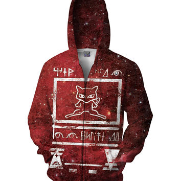 Ancient Mew Limited Edition Red Zip-Up Hoodie