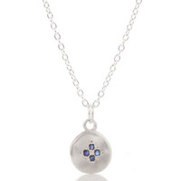 Sterling Silver Sapphire Necklace