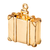 Gold Suitcase Charm by Altruette- International Rescue Commitee