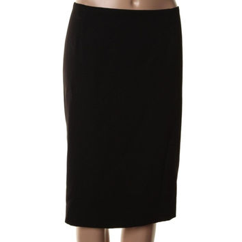 Anne Klein Womens Ponte Knee-Length Pencil Skirt