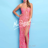 Strapless Sweetheart Formal Prom Gown By Mac Duggal Flash 4125L