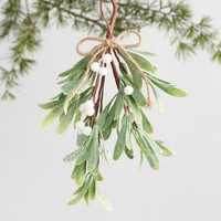 Glittered Faux Mistletoe Ornament
