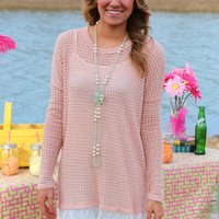 Daisy B. Spring Sweater Tunic {Peach}
