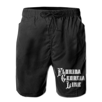 Florida Georgia Line HOLY Logo Mens Fashion Casual Beach Shorts
