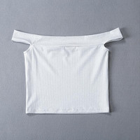 Off Shoulder Crop Top  Summer Shimmery Shell Fabric Hot Punk/Sweet Look