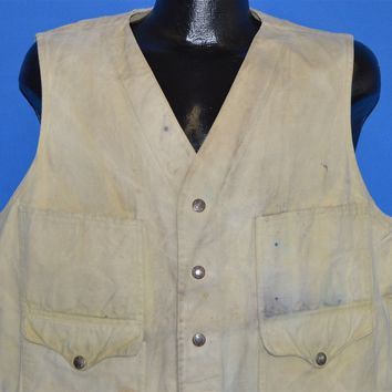 70s CC Filson  Cotton Distressed Hunting Vest Extra Large
