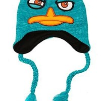 Phineas And Ferb Perry The Platypus Squint Peruvian Beanie - 162254