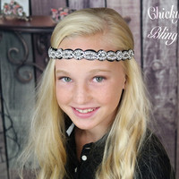 Debonair Rhinestone Scalloped Headband
