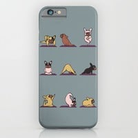 frenchie yoga iPhone & iPod Case by Huebucket