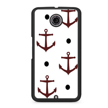Nautical Anchor Navy Pattern Print Nexus 6 case