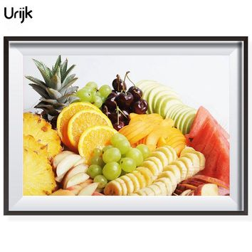 Urijk Dining Hall Pictures By Numbers DIY Fruits Pineapple Coloring Oil Paintings By Numbers Decorative Home Wall Arts Picture