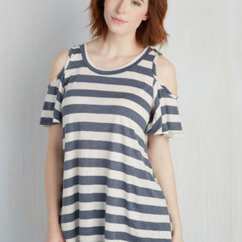 Nautical Mid-length Short Sleeves Shoulder Seen It Coming Top