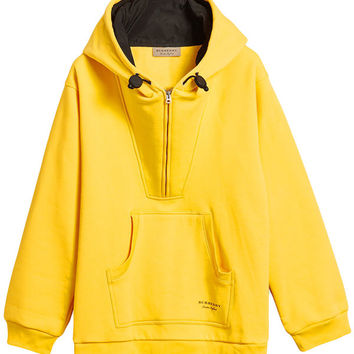 Burberry Oversized Sweatshirt Half-zip Hoodie - Farfetch