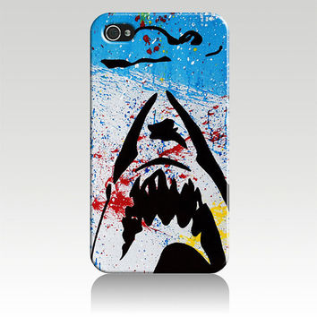 Jaws Abstract Shark Hard Plastic iPhone 4, 4s, 5 Case Cover