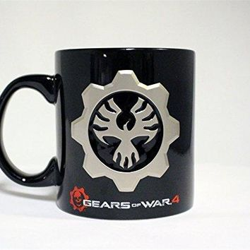 Xbox / PS4 /  Gears of War OFFICIAL Black Ceramic Coffee Mug, 20 OZ, Novelty GIFT for Gears for War fans