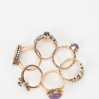 Urban Outfitters - Treasure Chest Ring - Set of 8