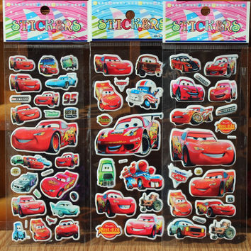 Cars Cartoon Stickers for Boys and Girls Decorative Cool Famorous Cars Beautiful Foam Gift Develop Intelligence