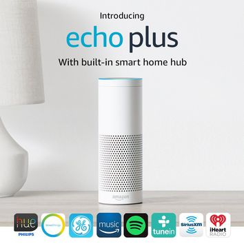 Introducing Echo Plus with built-in Hub – White + Philips Hue Bulb included