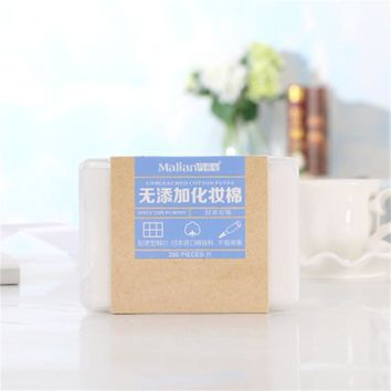 280pcs Facial Makeup Cotton Wipes Face Cleansing Puff Nail Polish Remover Removable Cosmetic Skin Care Pads with Case