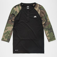Nike Sb Dri-Fit Mens Henley Black  In Sizes