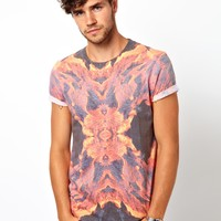 ASOS | ASOS T-Shirt With All Over Sublimated Lava Print at ASOS