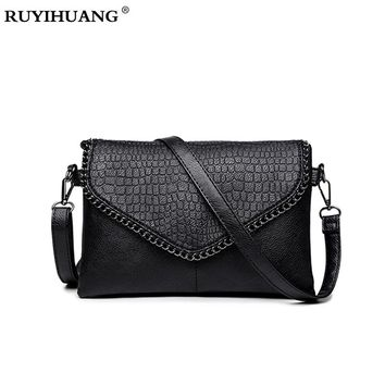 Women Handbags  Crocodile Pattern  PU Leather Tote bolsas For Girl Large Handbag Evening Clutch Wallet Purse Chain Messenger Bag