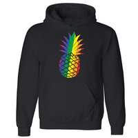 Zexpa Apparel™ Pineapple Rainbow Unisex Hoodie Gay Pride LGBT June 25 Proud Hooded Sweatshirt