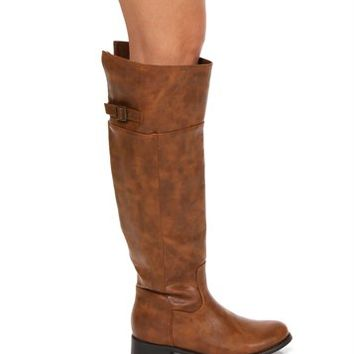 Tan Back Buckle Boots