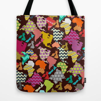 geometric world Tote Bag by Sharon Turner | Society6