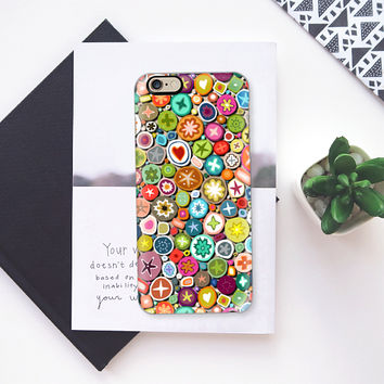 millefiori transparent iPhone 6s case by Sharon Turner | Casetify