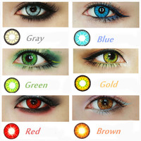 Us stock big eyes 2017 3 tone colored contact lenses