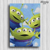 toy story alien print toy story room little green men