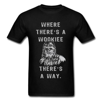 Lasting Charm Where Theres A Wookiee Theres A Way  Funny Chewbacca Quote Sports t-shirts Star Wars Fun Men Sports T Shirt