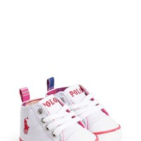 Infant Girl's Ralph Lauren Layette 'Harbour Hi' Crib Shoe
