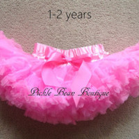 Pink Pettiskirt - Ready To Ship - 1st Birthday Tutu - Petti Skirt Tutu Easter - Baby Girl 1st Birthday Outfit - Girls First Birthday Outfits