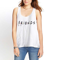 Friends American 90s TV Series Jennifer Aniston Logo Womens Tank Top *