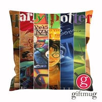Harry Potter Book Collage Cushion Case / Pillow Case