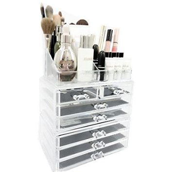 Acrylic Jewelry & Cosmetic Storage Makeup Organizer, 3 Piece Set