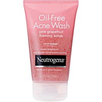 Neutrogena Oil-Free Acne Wash Pink Grapefruit Foaming Scrub, 4.2 fl oz - Walmart.com