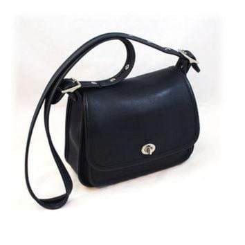 Coach Navy Blue Crossbody / Shoulder Bag - Free Us Shipping - Beauty Ticks