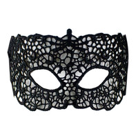 Black Crochet Lace Party Mask